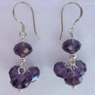 Crystal Earrings: Purple