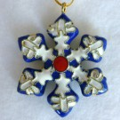 Cloisonne Snowflake Ornament: Blue and White
